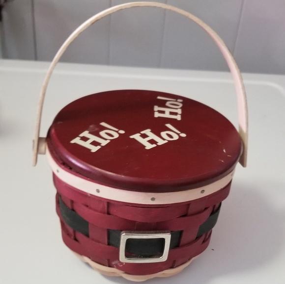 Longaberger Christmas Basket.Longaberger Christmas Basket With Liner And Lid